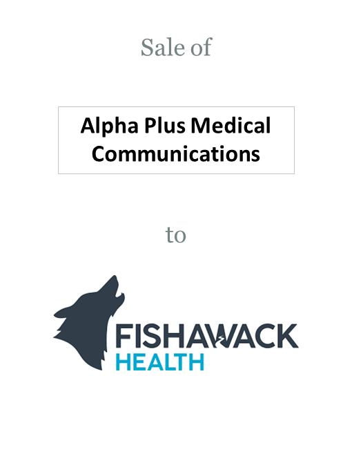 Alpha-Plus Medical Communications sold to Fishawack