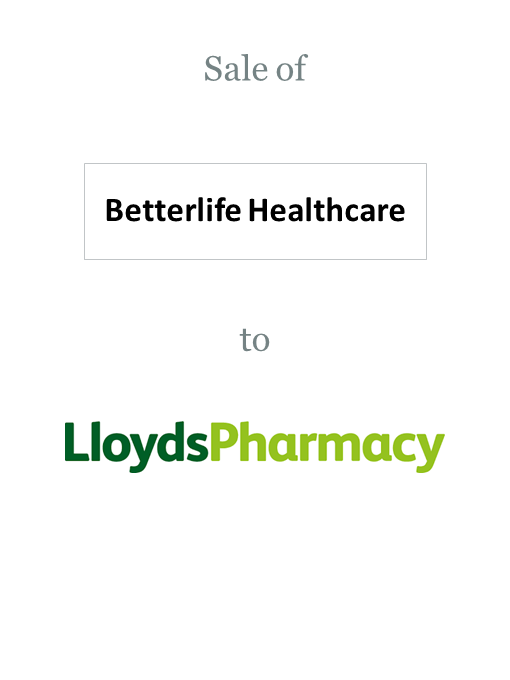 Betterlife Healthcare sold to Lloydspharmacy