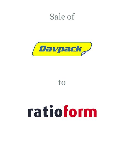 Davpack sold to Ratioform Verpackungen GmbH (Takkt AG)