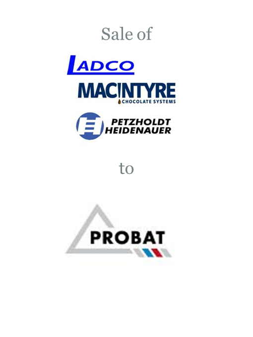 Ladco Group sold to Probat Group