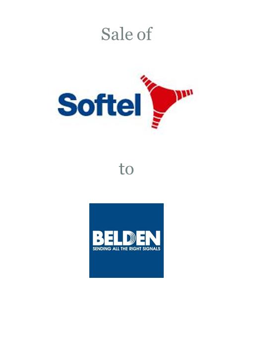 Softel sold to Belden Inc
