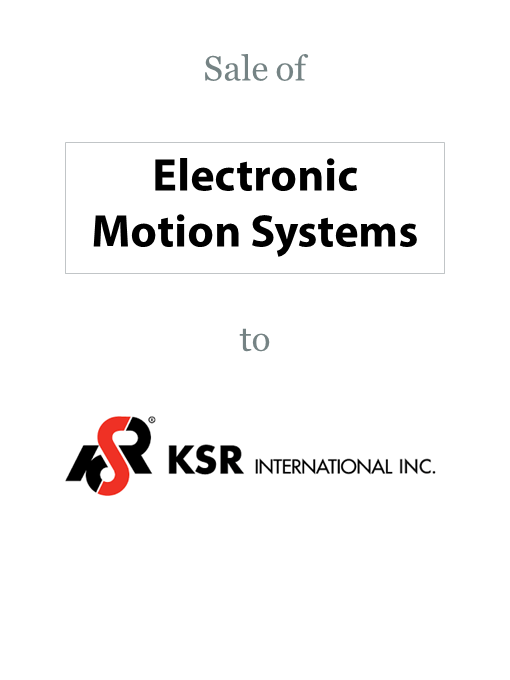 Electronic Motion Systems sold to KSR International Co