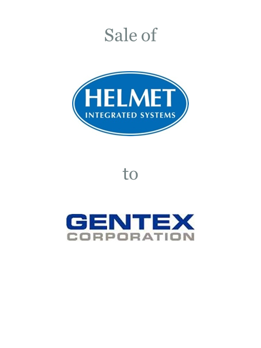 Helmet Integrated Systems sold to Gentex Corporation