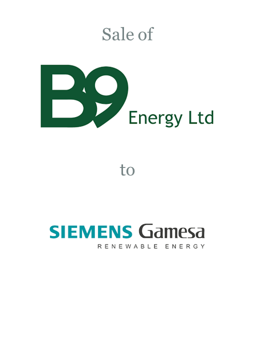 B9 Energy sold to Gamesa