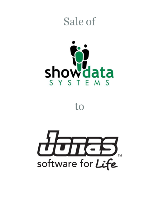 Show Data Systems sold to Jonas Software