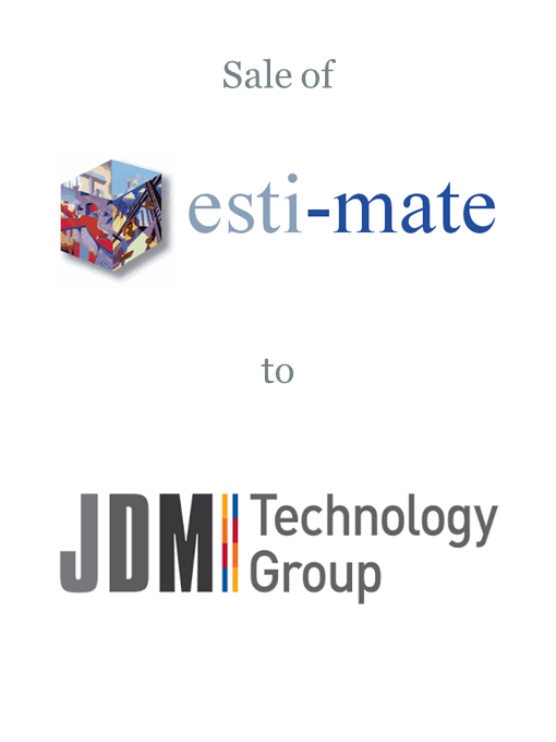 Estimate Software sold to JDM Technology Group
