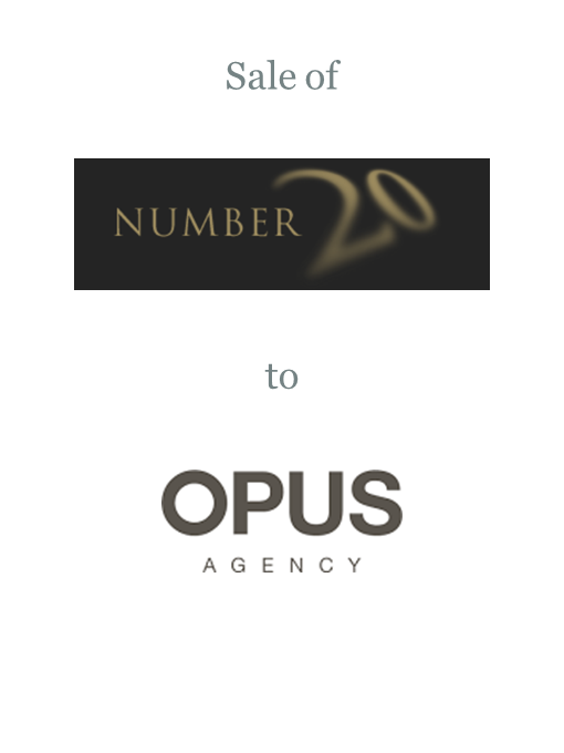 Number 20 sold to Opus Agency