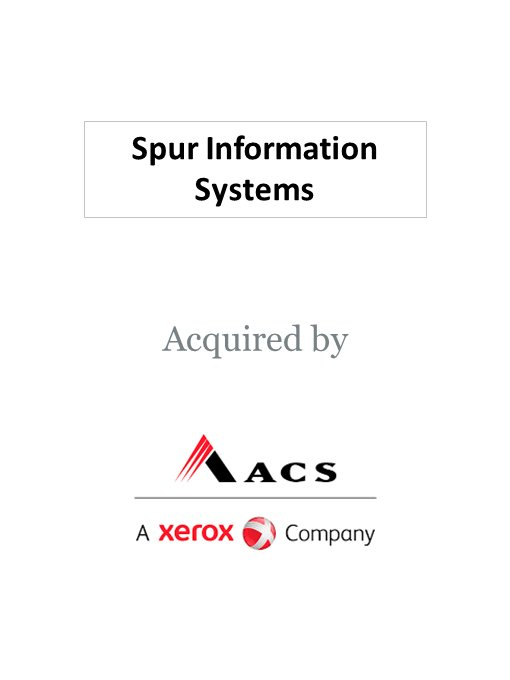 ACS, a Xerox Company, acquires Spur Information Solutions