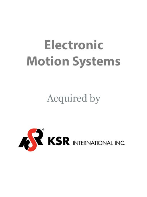 KSR International Co acquires Electronic Motion Systems