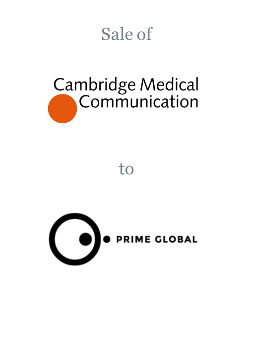 Cambridge Medical Communication sold to Prime Global